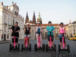 Prague tours up to Prague Castle on Segway