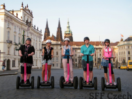 Prague tours up to Prague Castle on Segway