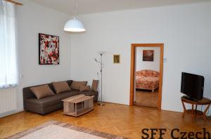Large 2 bedroom apartment to rent, Prague 2 Malá Štěpánská