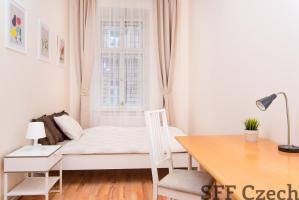 Furnished room to rent next metro Andel Vltavska