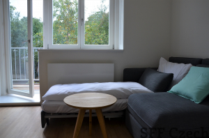 Modern fully furnished studio Prague 6 next metro