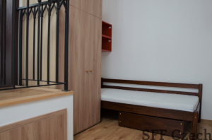 Private single room with bathroom for rent Prague 3 close to center