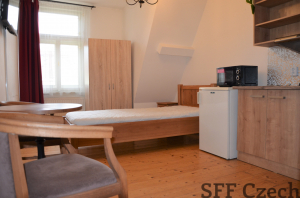 Small cheap furnished studio next Karlovo namesti