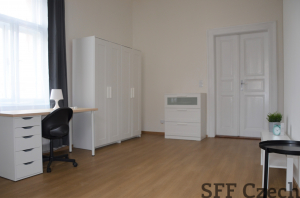 Large fully furnished room in a shared 3-bedroom apartment